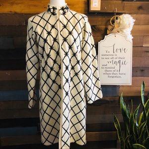 Neiman Marcus Vintage 100% Wool Beaded Coat.